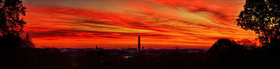 Red Dawn Print by Metro DC Photography