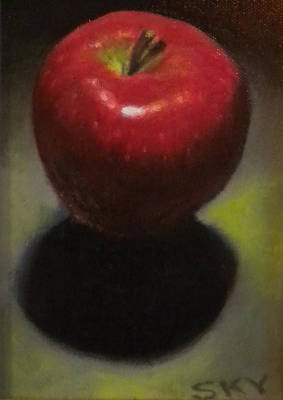 Red Delicious Print by Blue Sky