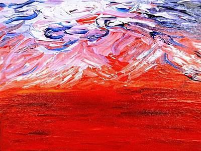 Red Desert Print by Amy Drago