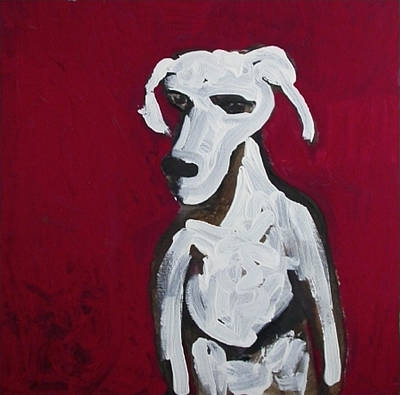 Tablou Painting - Red Dog by Amy Marie Adams