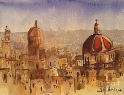 Red Domes Original by Gail Heffron