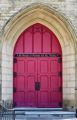 Columbus Ohio Photograph - Red Door by Daphne Duddleston