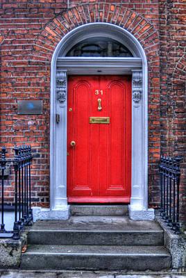 Red Door Dublin Ireland Print by Juli Scalzi