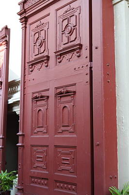 Red Door - Grand Palace In Bangkok Thailand - 01131 Print by DC Photographer