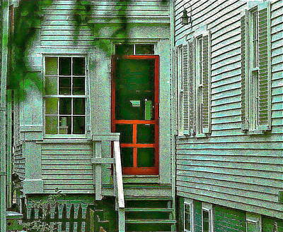 Screen Doors Photograph - Red Door On The Cape by Ira Shander