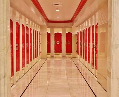 Washrooms Digital Art - Red Doors by Cynthia Guinn