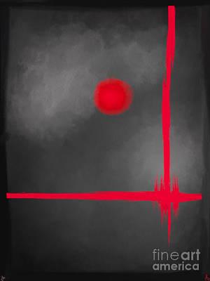 Artrage Painting - Red Dot by Anita Lewis