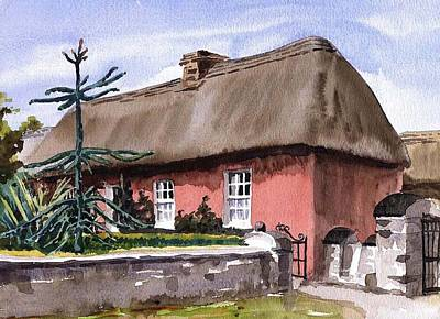 Tour Ireland Painting - Clare A Well Off Farmers House Bunratty Folk Park by Val Byrne