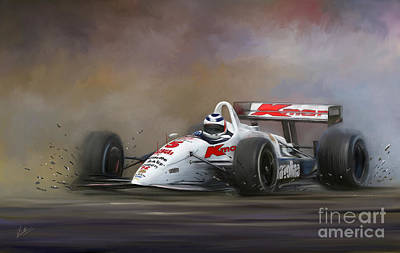Red Five - Nigel Mansell Print by Linton Hart