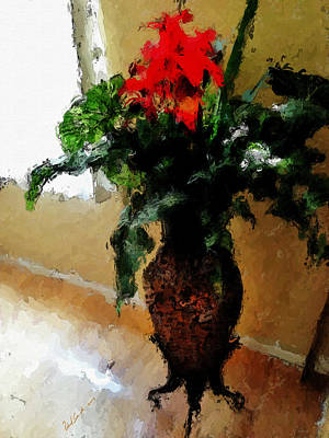 Red Flower Stance Print by Robert Smith