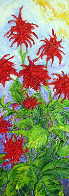 Red Flowers Print by Paris Wyatt Llanso