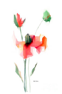 Art To Wear Digital Art - Red Flowers by Rafael Salazar