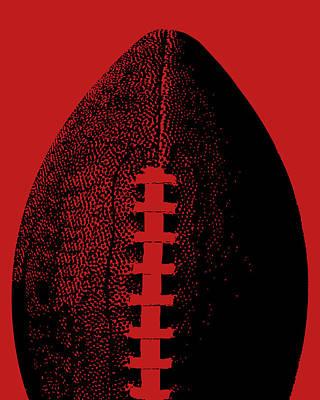 Sports Digital Art - Red Football Pop Art by Flo Karp