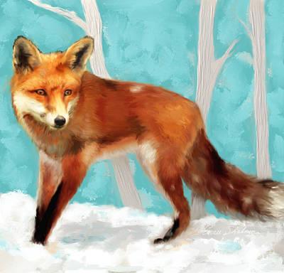 Red Fox Painting - Red Fox by Enzie Shahmiri