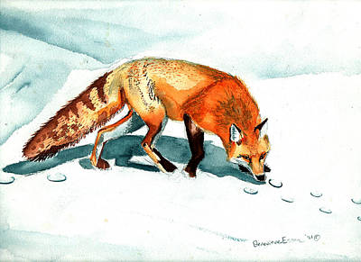 Red Fox Painting - Red Fox by Genevieve Esson