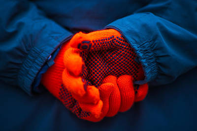 Red Gloves - Featured 3 Print by Alexander Senin