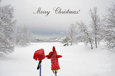 Christmas Photograph - Red Gloves In Winter Wonderland by Gry Thunes