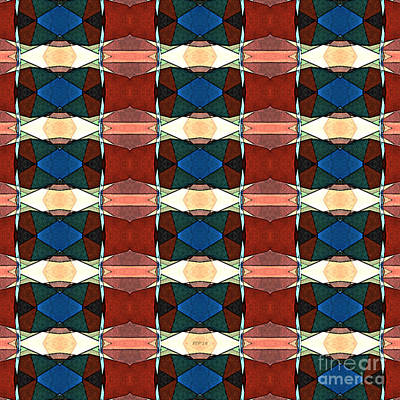 Abstract Digital Art - Red Green And Blue Abstract by Phil Perkins