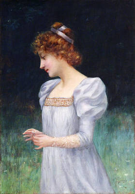 Red Haired Maiden Print by David Lloyd Glover