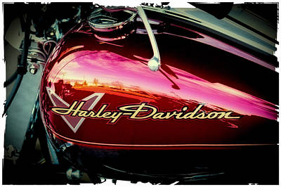 Classic Cycle Photograph - Red Harley-davidson by David Patterson