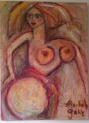Red  Head Nude Original by Rachel Ganz