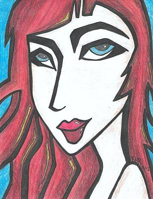 Red Head Mixed Media - Red Head by Ray Ratzlaff