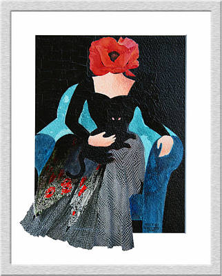 Painting - Red Head With Black Cat by Eve Riser Roberts
