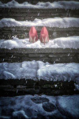 Red High Heels Print by Joana Kruse