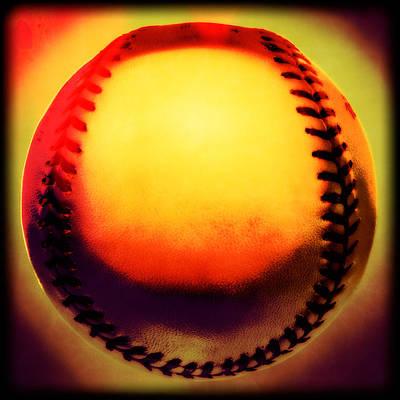 Softball Photograph - Red Hot Baseball by Yo Pedro