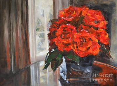 Interior Still Life Painting - Red Hot Passion by Lori Pittenger