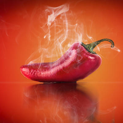 Food And Beverage Photograph - Red Hot Pepper by Jay Hooker