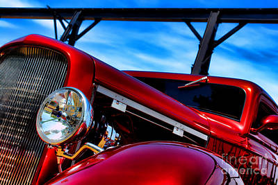 Modified Photograph - Red Hot Rod by Olivier Le Queinec