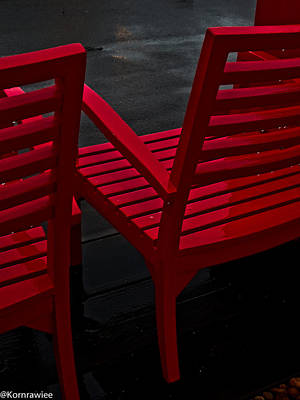 Photograph - Red Invitation by Kornrawiee Miu Miu