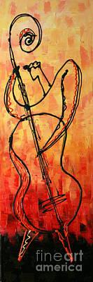 Red Jazz 2 Original by Leon Zernitsky