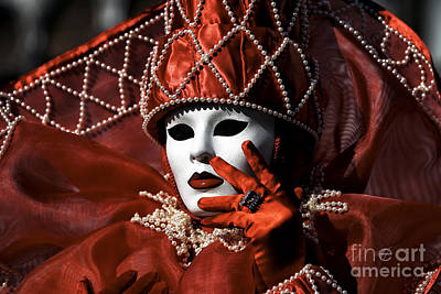 Fiesta Photograph - Red by John Rizzuto