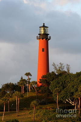 Jupiter Inlet Photograph - Red Jupiter Light by Christiane Schulze Art And Photography