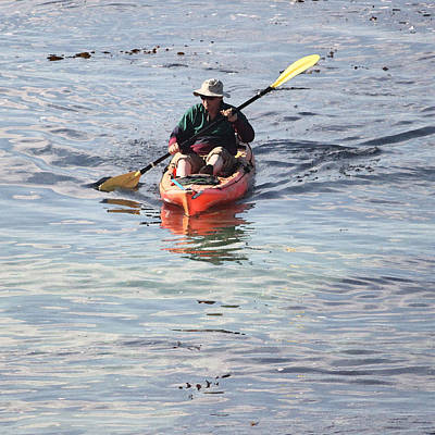 Oars Digital Art - Red Kayak by Suzanne Gaff
