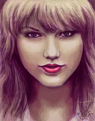 Taylor Swift Digital Art - Red by Kendra Tharaldsen-Franklin