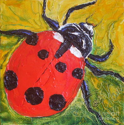 Red Ladybug Print by Paris Wyatt Llanso