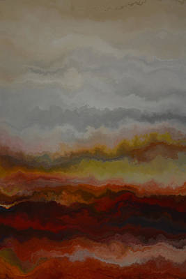 Red Landscape  Print by Andrada Anghel