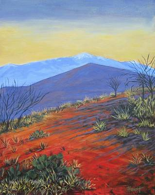 Red Landscape Print by Gene Foust
