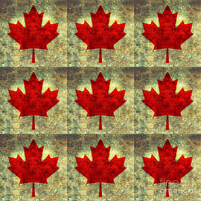 Canadiens Digital Art - Red Maple Leaf by Bruce Stanfield