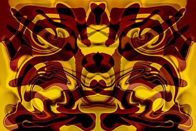 Red Mask Print by Omaste Witkowski