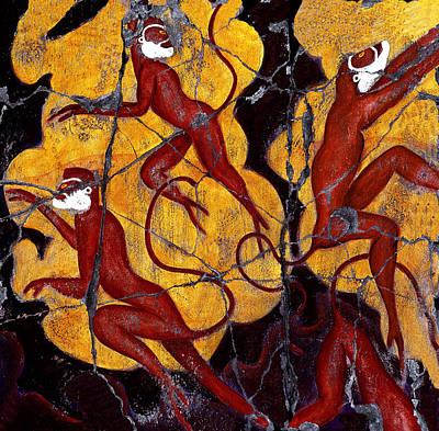 Red Monkeys No. 3 - Study No. 1 Original by Steve Bogdanoff