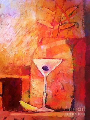 Mood Painting - Red Mood by Lutz Baar