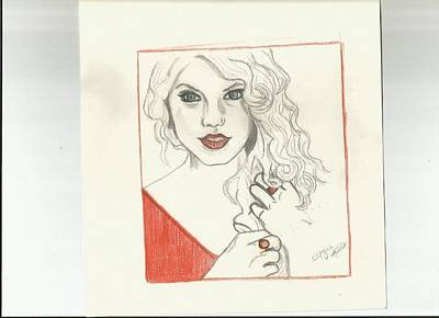 Taylor Swift Drawing - RED by Morgan Alicia