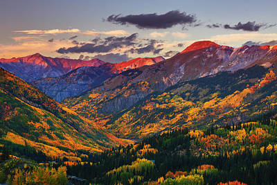Red Mountain Pass Sunset Print by Darren  White