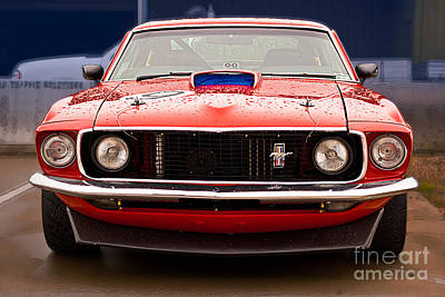 Muscle Car Masters Photograph - Red Mustang by Stuart Row