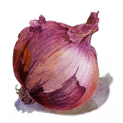 Onion Painting - Red Onion by Irina Sztukowski