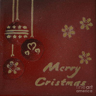Christmas Painting - Red Ornaments by Laura Toth